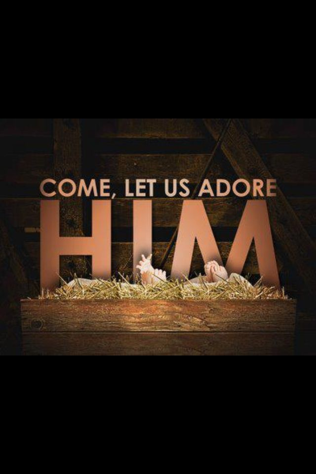 christmas - come let us adore Him